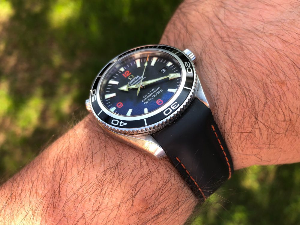 Seamaster Planet Ocean rubber strap